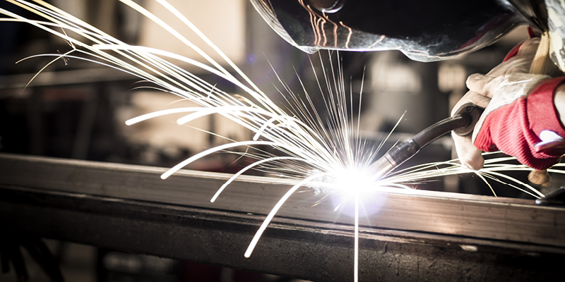 A welder working