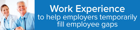 Work Experience to help employers temporarily fill employee gaps image graphic