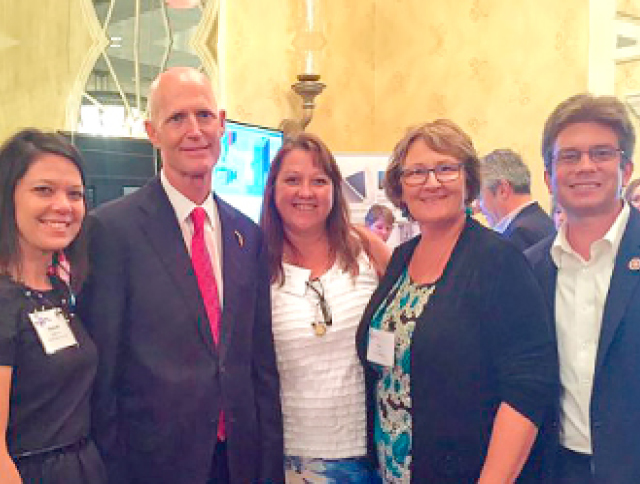 Governor Scott with CareerSource Brevard employees