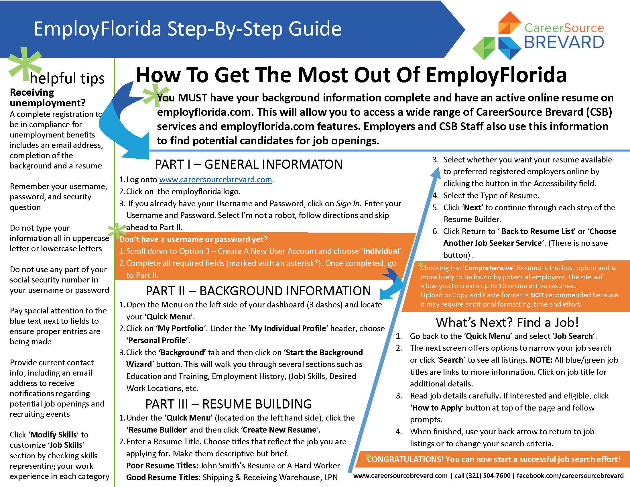 Employ Florida - Resume | Job Posting Resource | Job ...