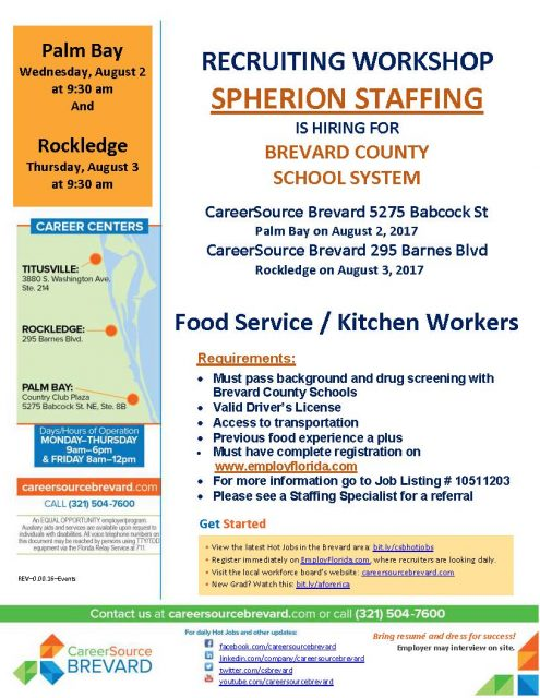 Contact Us Palm Bay Ford Service >> Recruiting Workshop Food Service Workers Palm Bay Careersource