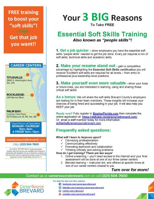 Essential Soft Skills Training - Rockledge - CareerSource Brevard
