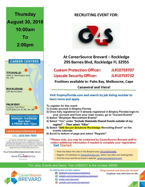 Recruiting Event - Custom Protection and Upscale Security