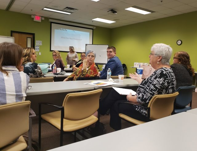 Attendees at The Keys to Talent Management, a Business Learning Event at CareerSource Brevard in Rockledge, discuss talent recruitment and retention challenges