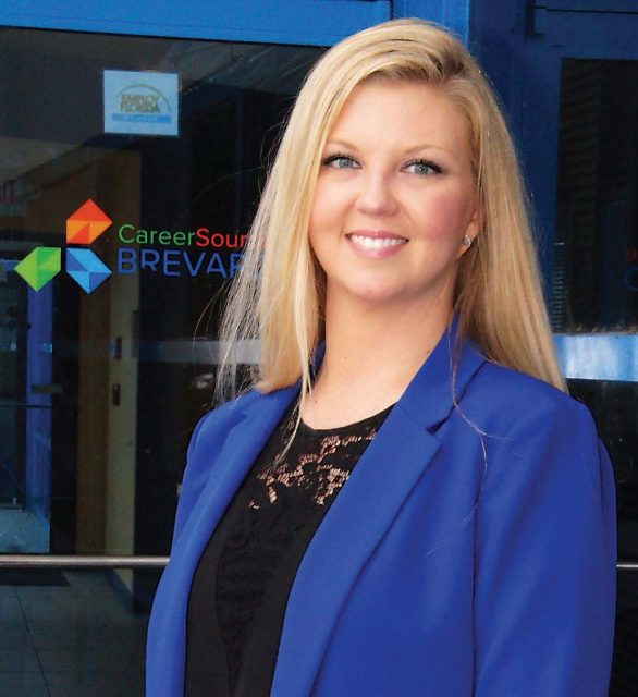 Grace Svitak - Business Liaison - CareerSource Brevard - front cover of Brevard Business News - April 27, 2020