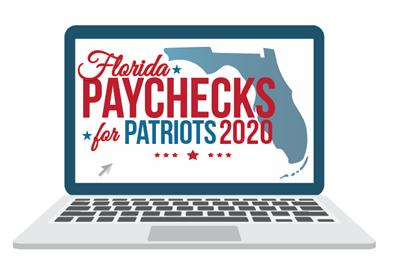 Florida Paychecks for Patriots logo