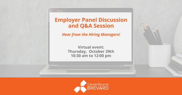 Virtual employer panel and question and answer session event