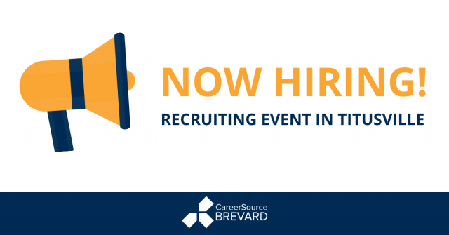 Recruiting event at CareerSource Brevard Titusville career center