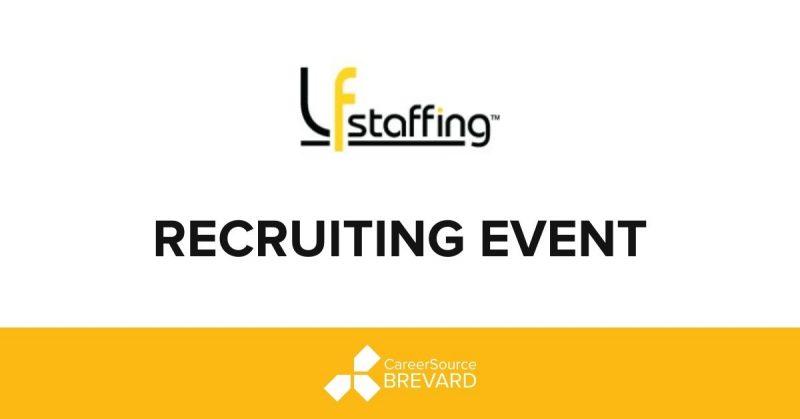LF Staffing logo recruiting event